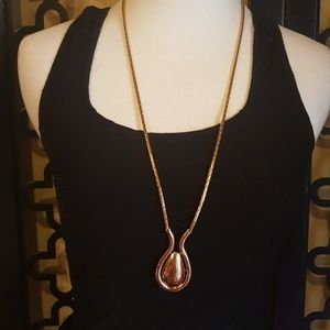 MONET SONGLE GOLD OVAL NECKLACE